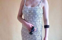 Sukienka beżowa HAND MADE