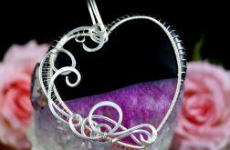 Srebrny wisior z Agatem różowo czarnym