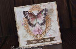 Moc życzeń - motyl w ramce