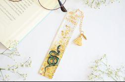 Zakładka do książki - wąż w złocie