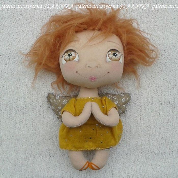 ANIOŁEK lalka - dekoracja tekstylna, OOAK /16 - tak wyglądam w całości