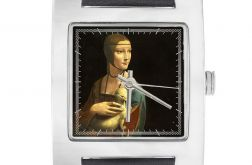 """Zegarek kwadrat """"Dama z gronostajem"""""""