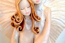 Para aniołów ceramicznych dużych