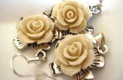 Koral - róże, 2 kolory, zestaw biżuterii