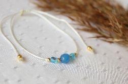 Niebieski agat - bransoletka z kamieniem