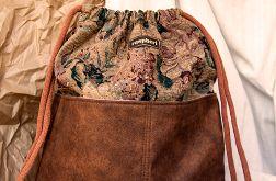 Żakardowy plecak worek z kieszeniami