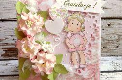 Kartka dla przyszłej mamy - róż
