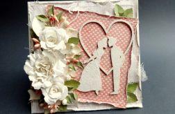 Kartka ślubna - zakochana para