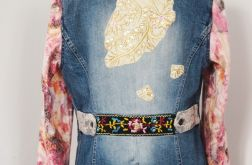 Katana, kardigan, kurtka, jeans, hafty