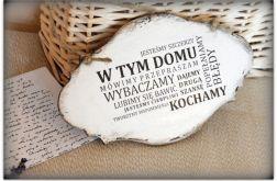 ~Od Ani~ Szyld Cytat Motto Tabliczka z napisem ~W tym domu...~