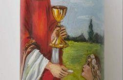 świeca malowana ręcznie-I Komunia Święta 1