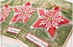 Kartka świąteczna ze śnieżynką 1