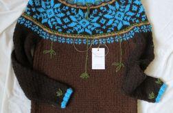 """Sweter artystyczny """"Blue star """"."""