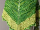 Chusta w odcieniach zieleni