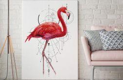 Plakat Flaming geometria 50x70 cm B2