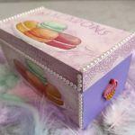 Drewniane pudełko ozdobne Macarons - Sweetest Things 4
