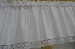Biały lambrekin 250x40 - wz 10