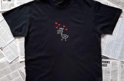 Koszulka ręcznie malowana kurka love unisex