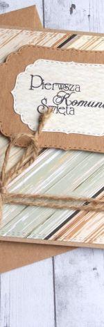 kartka komunijna :: drewno