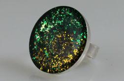 Zielono-złoty - pierścionek