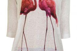 Letni sweterek flamingi