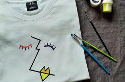 Koszulka ręcznie malowana abstrakcja unisex