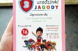 Zaproszenie Psi Patrol różowe ZUD 009