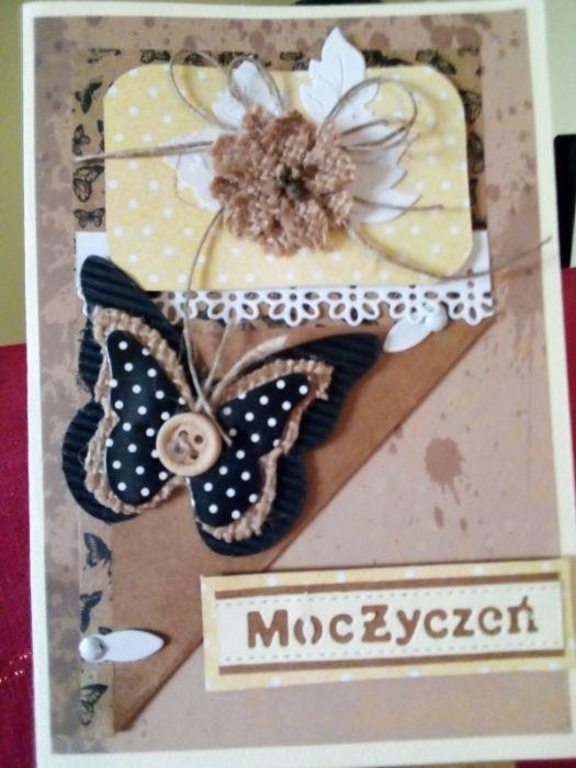 Kartka okazjonalna z motylem