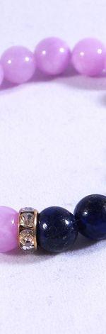 Bransoletka z jadeitami i lapisem lazuli
