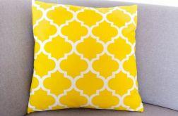 Poduszka bawełniana, żółte maroko, 45x45cm.