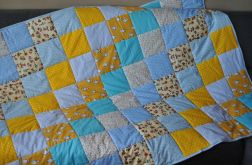 Wesoły patchwork na łóżko 120 x 180 cm