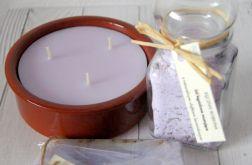 Mydło świeca na prezent lawenda
