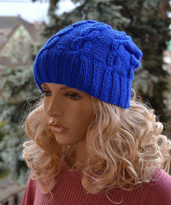 Szafirowa czapka