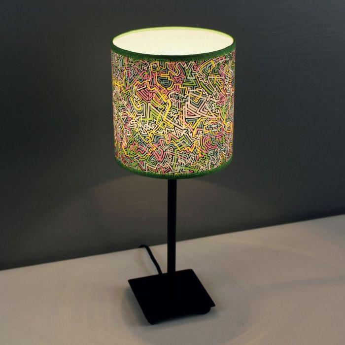 """Lampa nocna stojąca """"mIDI łAMIEŁUKI"""" S - Oryginalny, dynamiczny wzór"""