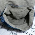 """Torba dżinsowa """"Statua Wolności w bandanie"""" 02) - handmade"""