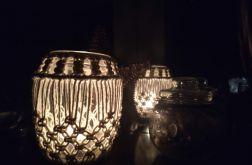 świecznik z makramą /średni/
