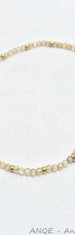 Bransoletka Topaz szampański fasetowany mod 1