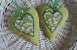 Serduszko romantyczne w kolorze oliwki
