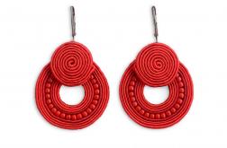 Madeleine – kolczyki koła czerwone