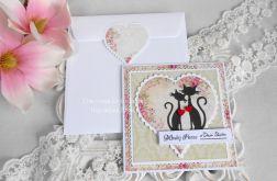 Ślubna kartka w kopercie 16