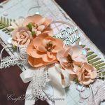 Ślubny bukiet łososiowy - Ślubny bukiet- detal III