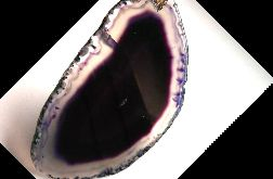 Ogromny fioletowy surowy plaster agatu wisior