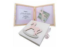 Pamiątka Chrztu Świętego, pudełko na pieniądze- Pp04