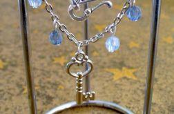 Bransoletka z kryształkami błękit