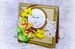 Kartka na Dzień Matki - żółte kwiaty