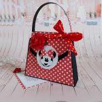 Kartka - torebka na urodziny Myszka Miki -