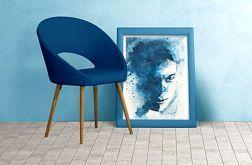 portret akwarelowy - monochromatyczny