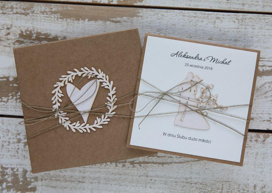 Oryginalna kartka ślubna i pudełko 4 - stylowa kartka na ślub