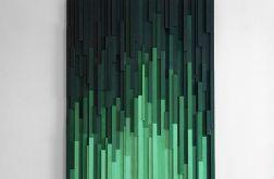 "Obraz 3D Mozaika drewniana ""Emerald City"""