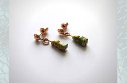 Kolczyki ze szklanych koralików zielone